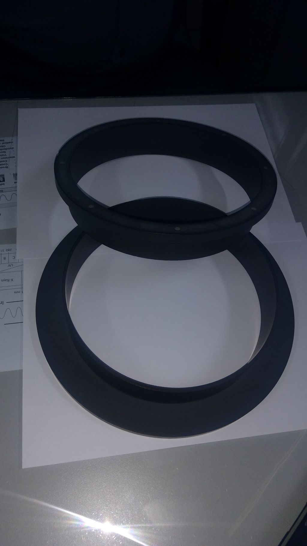 Silicon carbide bulk head connecting rings